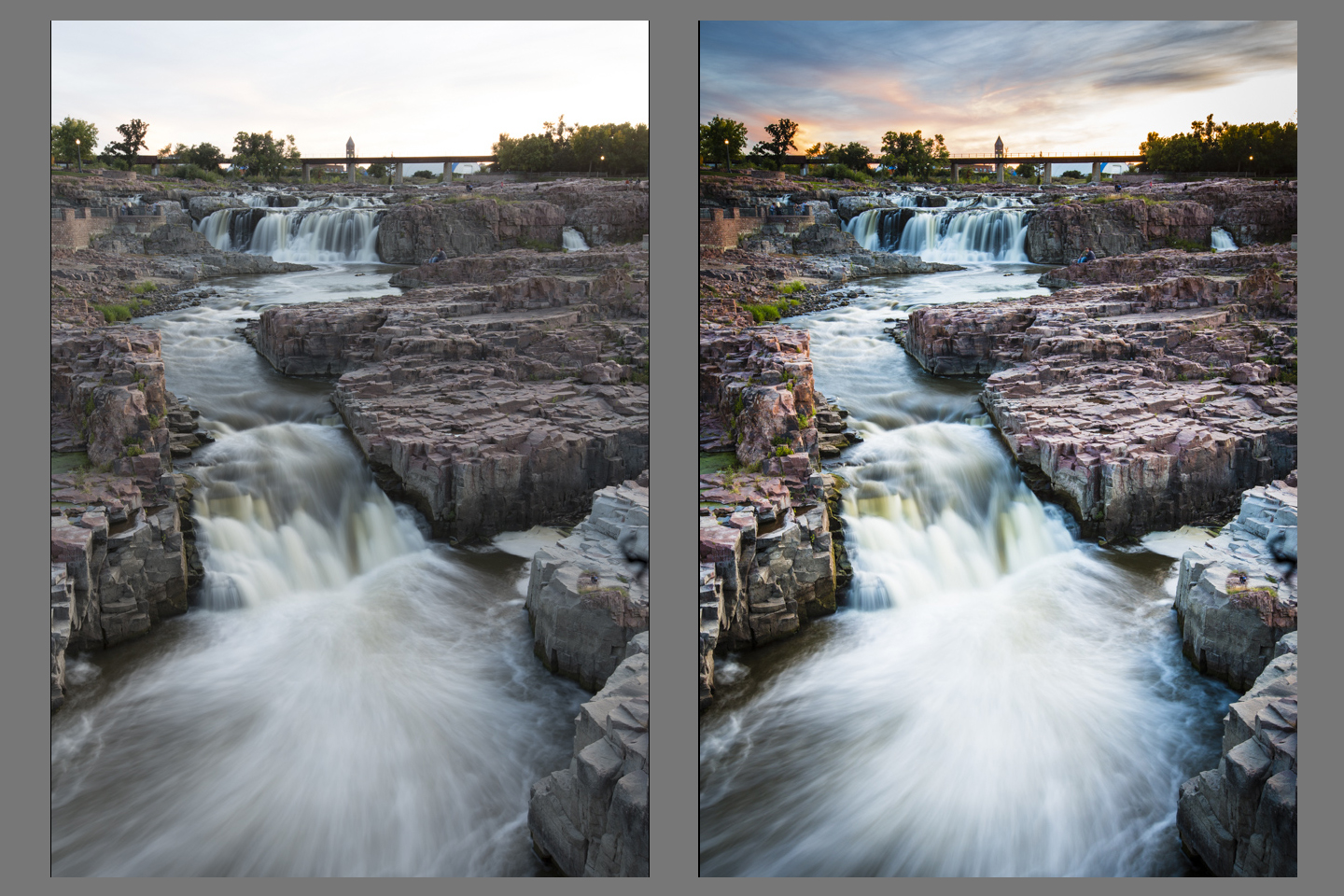 Day-53-Sioux-Falls-In-Sunset-before-after - Shoot Photography Workshops